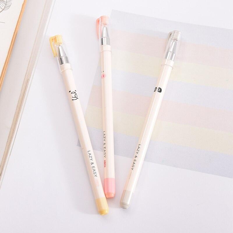 Творческий Простой иглы гелевая ручка Panda серия pen 0,38 мм черный подпись ручка