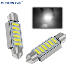 MODERN CAR 10pcs C5W C10W LED Canbus Light Bulbs For Car 31mm 36mm 39mm 41mm Side Wedge Parking White led Styling 12V