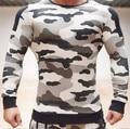 The fall of 2016 is suitable for  fitness men men zipper camouflage aesthetics pullover sweatshirt hoodie man