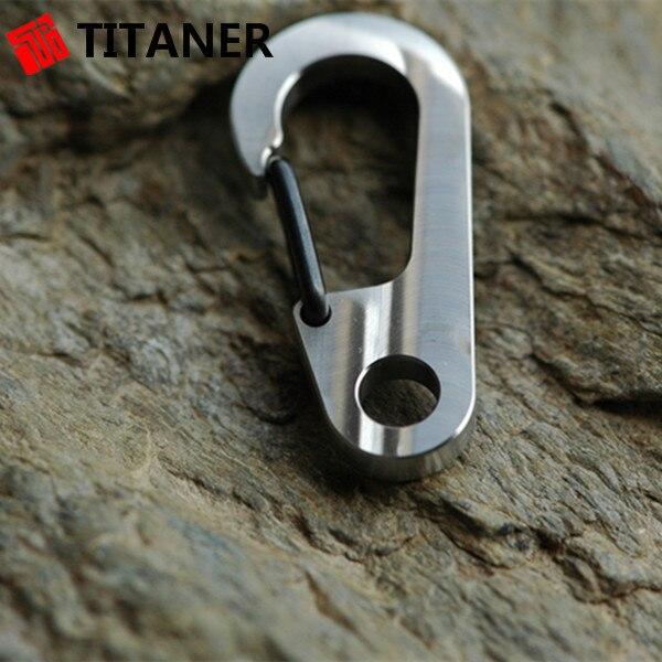 c8842e93e3 Titaner Titanium Carabiner Bulk Mini Key Chain Quick Release Clip Split Ring  Outdoor Camping Gear Buckle Travel Kits