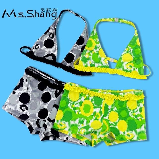 566ece1d5b Ms.Shang 8-16 Years Children Swimwear Girls Two Piece Bikini Kids Swimsuit  2019