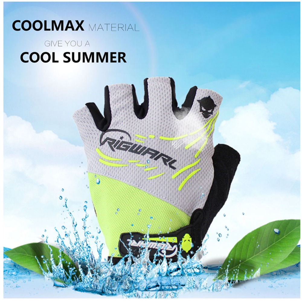 Waterproof Durable Men Sports Half Finger Anti Slip Gel Pad Fishing Gloves Tackle Fitness Sports Fishing Tackle Free shipping image
