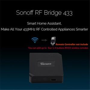Image 5 - 2 шт. Sonoff RF мост WiFi 433 МГц преобразователь Ewelink приложение для автоматизации умного дома универсальный переключатель умный дом Wi Fi пульт дистанционного управления