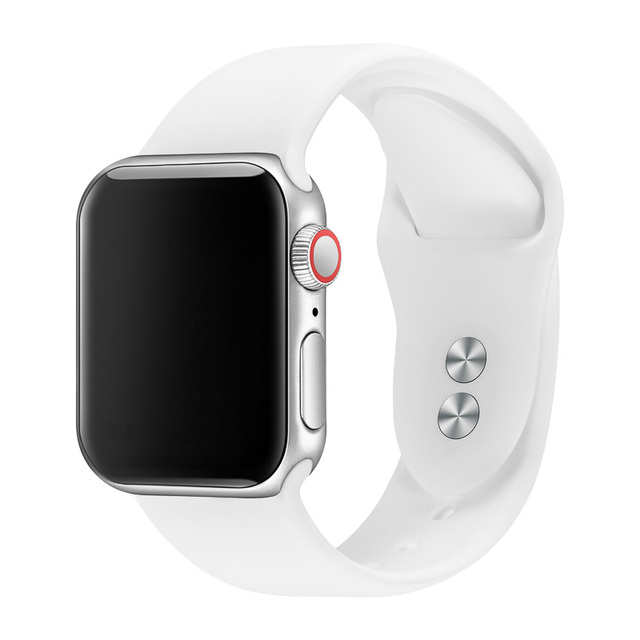 Band For Apple Watch Band 38mm 40mm 42mm 44mm Double Buckle Rubber Silicone IWatch Strap  For Apple Watch Series 4,3,2,1 81024