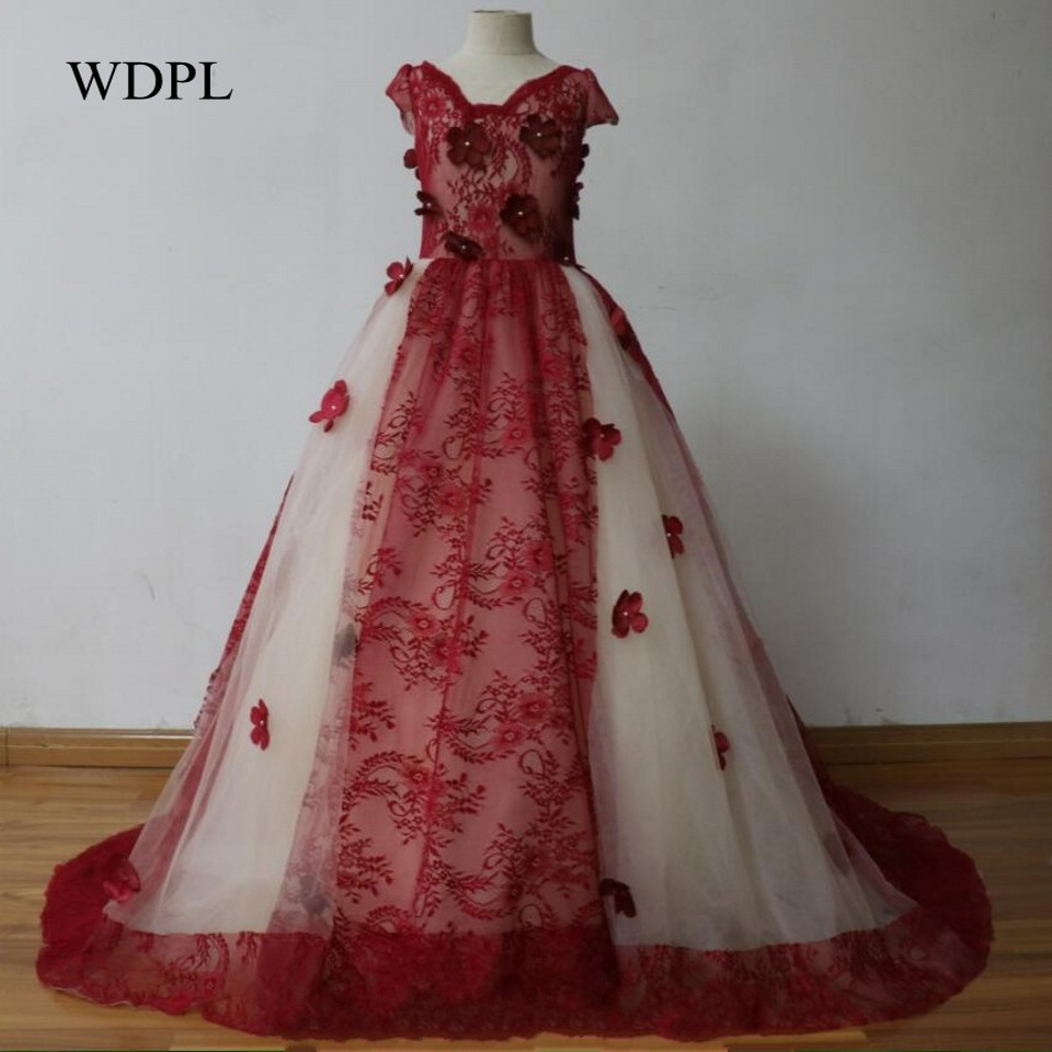 Children Pageant Dresses Burgundy Vestido Daminha Tulle Flower Girl