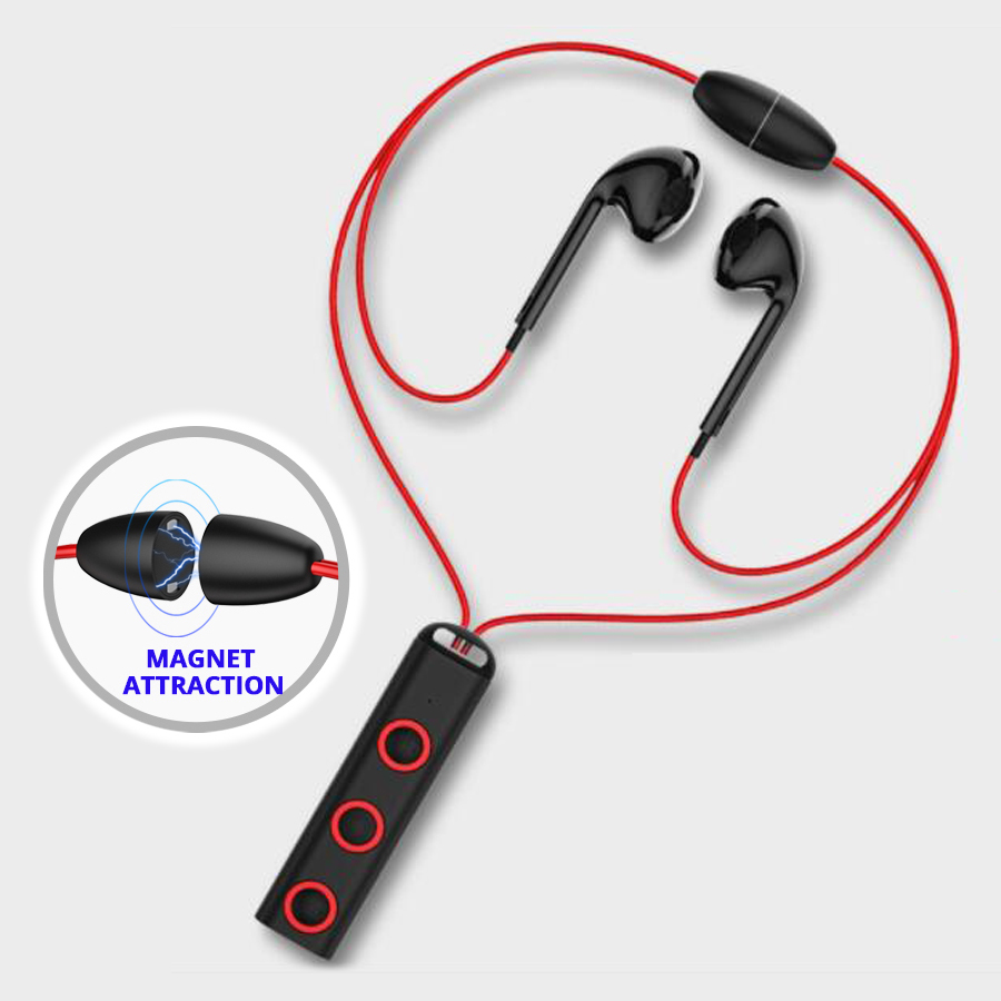 AFIT Bluetooth In Ear Wireless Earphones Sport Earphone Magnetic Earpiece with Microphone Bluetooth Earbuds for iOS Mobile Phone sport running bluetooth earphone for sony xperia e1 earbuds headsets with microphone wireless earphones
