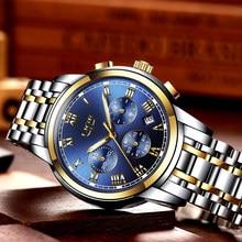 Men Luxury Brand Chronograph Men Sports Watches Waterproof Full Steel Quartz Men's Watch