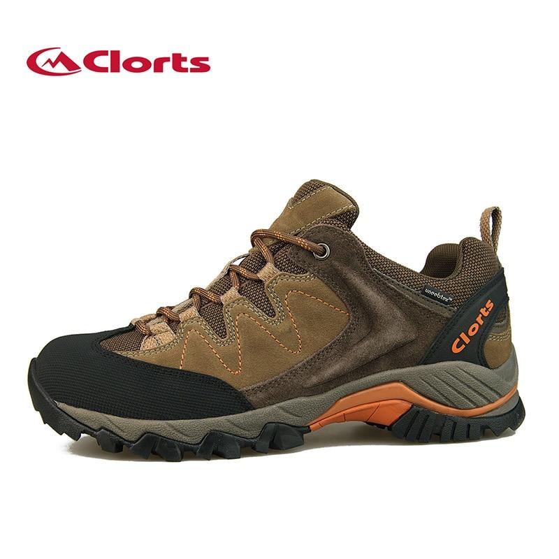 ФОТО 2016 Clorts Men Hiking Shoes HKL-806 Waterproof Cow Suede Outdoor Trekking Shoes EVA Sports Sneakers