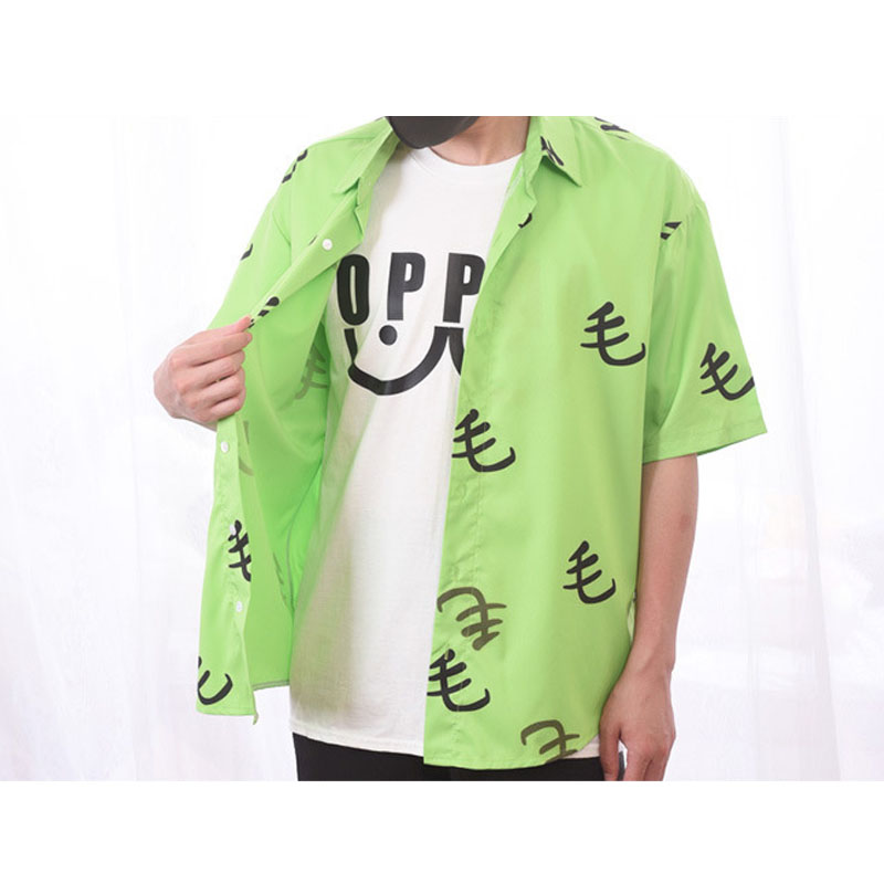 Cosroad One Punch Man Saitama Green Mao Shirt Cosplay Costume Oppai Tee Outfit T-Shirts for Halloween Party (4)