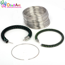 OlingArt metal wire coil steel beading findings brooches bouquet blank bracelet bangles 20 loops DIY Jewelry making accessories