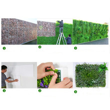 60x40cm Artificial Meadow Artificial Grass Wall Panel for Wedding or Home Decorations - 4 #
