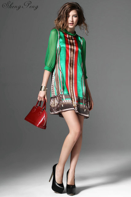 Hippie Bohemian Style Mexican Embroidered Dress For Ladies