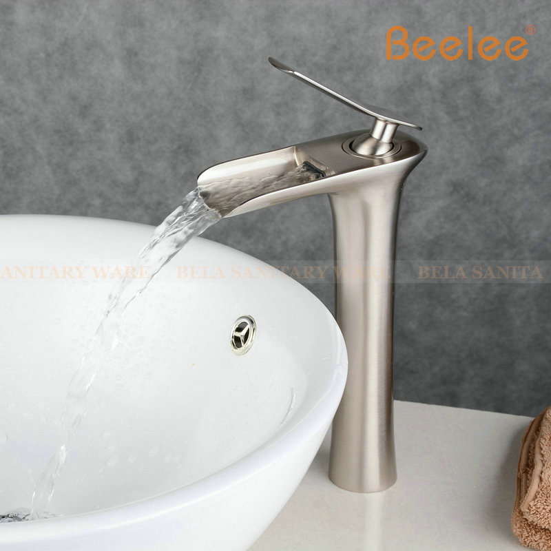 2016 Beelee New Bathroom Faucet Antique and Black Color Waterfall ...