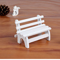 Mini 1Piece Wood Chair Couch Miniature Toys Kid Handmade Model Birthday Gift Christmas Dollhouse Furniture Decoration/Collection