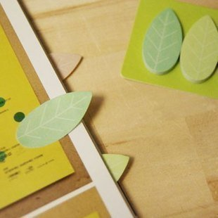 Free Shipping /Creative leaf Notepad/Note Memo/sticky cartoon note/message post/Notebook/Fashion Gift/Wholesale