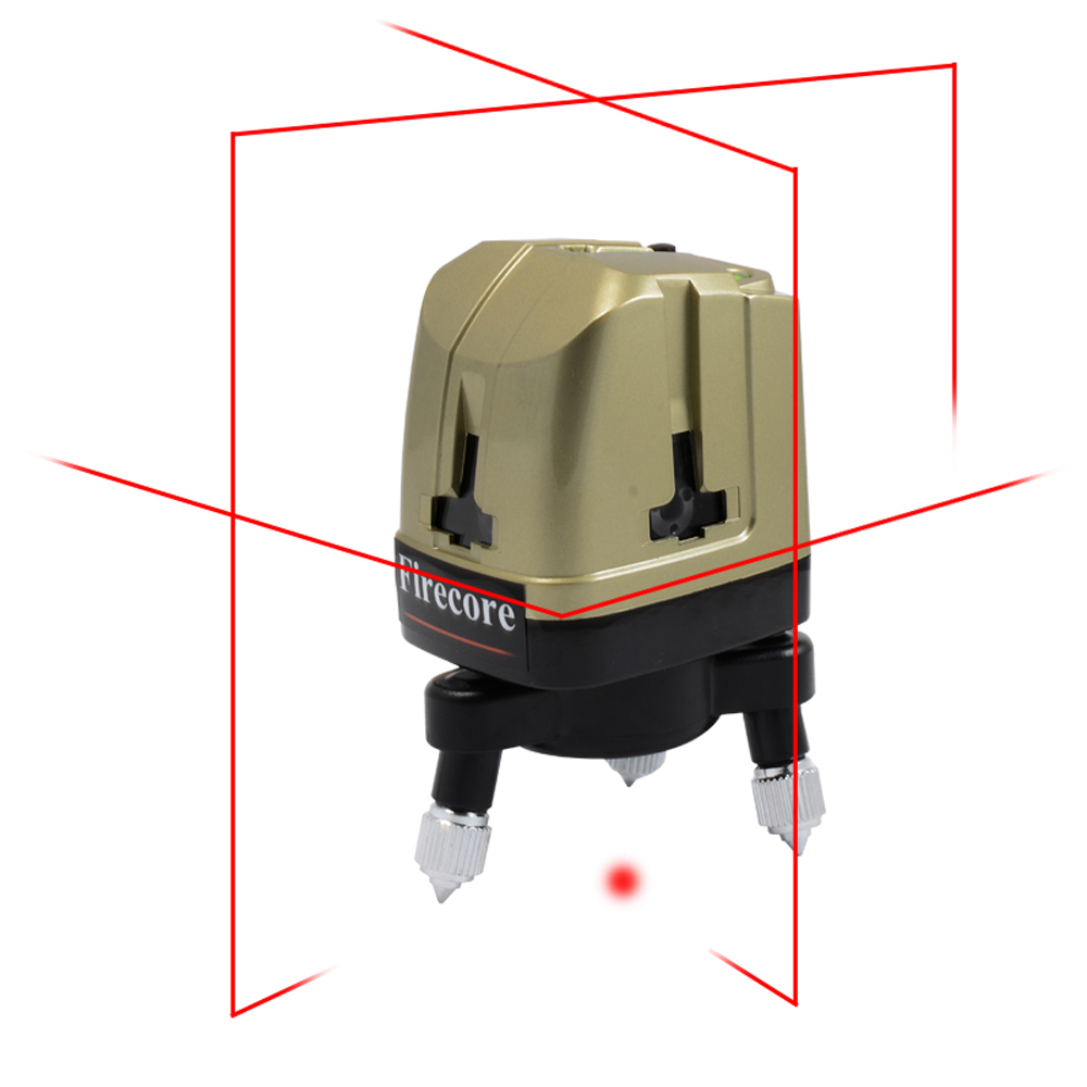 Firecore A8819 Portable 5Lines 360 Degree Laser Level Horizontal and Vertical Cross Red Beam Laser Line