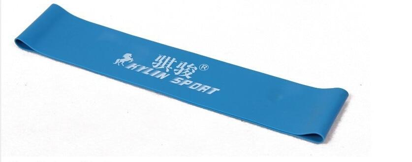 blauwe latex weerstand workout oefening pilates yoga bands loop enkel - Fitness en bodybuilding