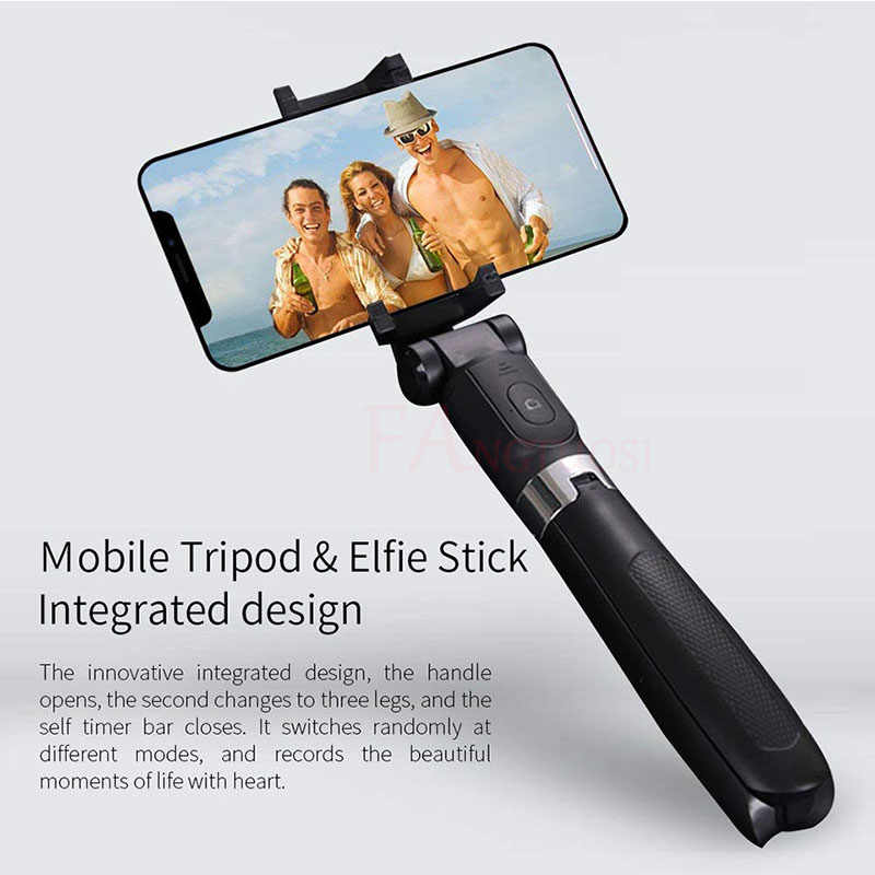 3 in 1 Wireless Bluetooth Selfie Stick For iPhone 8 X 7 6s Plus Foldable Handheld Monopod Shutter Remote Extendable Mini Tripod