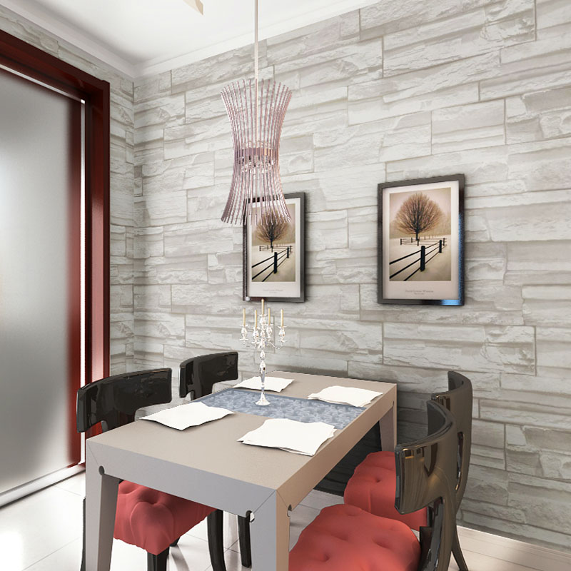 Aliexpress.com : Buy Chinese Style Dining Room Wallpaper Modern 3D Stone  Brick Design Background Vinyl Wall Paper For Kitchen Livingroom  Wallcovering From ...