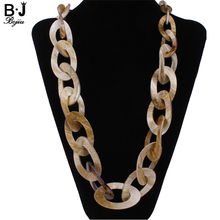 Round Plastic Link jewelry long necklace colors new 2017 fashion quality Acrylic jewelry NK1007