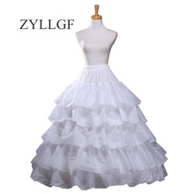 ZYLLGF бальное платье 4 Hoops 5 слоев Нижняя юбка для пышное свадебное платье кринолин Свадебный подъюбник аксессуары WP3
