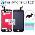 10 pçs/lote aaa + para iphone 6 s força de montagem da tela de toque lcd com 3d 4.7 polegada display dhl livre