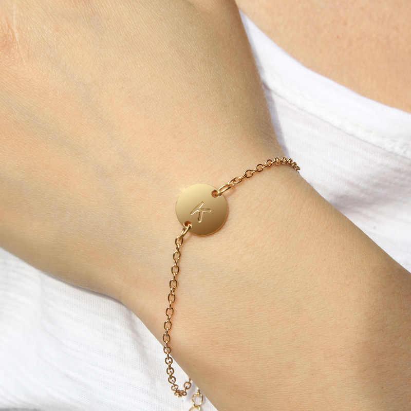 Bracelet en or rose réglable simple pour femme