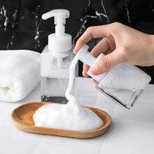 250/400ml Transparent Travel Portable Foaming Soap Pump Shampoo Dispenser Lotion Mousses Liquid Foam Bottle Container With Caps все цены