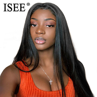 Malaysian Straight Lace Front Human Hair Wigs With Pre Plucked Hairline Bleached Knots 150% Remy ISEE Straight Lace Front Wig