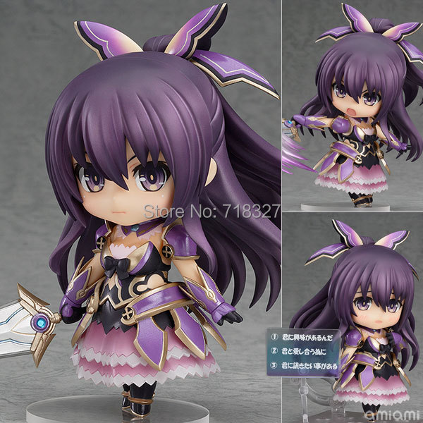 Popular Japanese anime Cute 4Qversion Nendoroid Date A Live Yatogami Tohka PVC Action Figure Model Collection Toy Free Shipping new hot 20cm date a live princess yatogami tohka action figure toys collection christmas gift doll with box