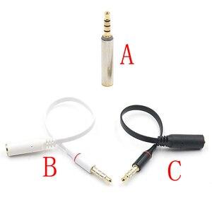 3.5mm macho para 3.5mm fêmea adaptador de áudio ctia omtp fone ouvido jack conversor para iphone htc samsung
