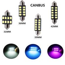 1 шт. гирлянда 31 мм 36 мм 39 мм 42 мм Автомобильный светодиодный светильник C5W CANBUS без ошибок автомобильный купольный светильник Авто интерьерная лампа DC12V белый ледяной, синий, розовый