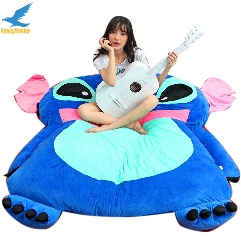 Sofa Bed Giant Malaysia Us 208 20 Off Fancytrader Anime Plush Stitch Sofa Bed Tatami Giant Soft Beanbag Carpet Mattress Sleeping Bag 3 Sizes Great Novelty Gift In Movies