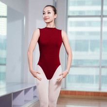 5e3dc63fa8 Adult Ballet Leotard For Women Black Red High Neck Sleeveless Gymnastics  Practice Leotard Sexy Backless Ballet