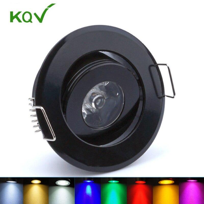 Black Body Mini Ceiling Led Spot Light Lamp 3w Led