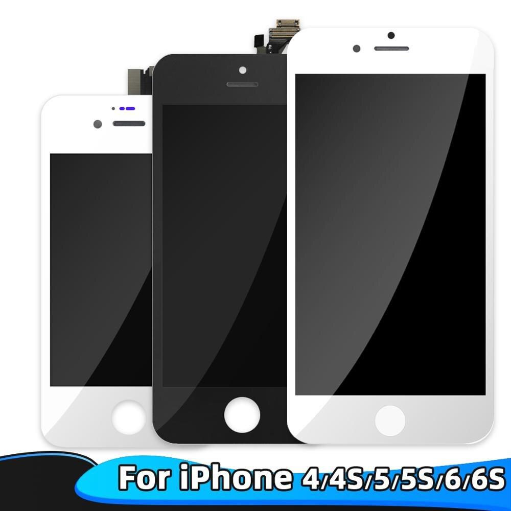 100% протестированный рабочий жк-дисплей для iPhone 4G женский жк-экран дисплей дигитайзер сенсорный экран в сборе без мертвых Pixe для iPhone 6 6S LCD