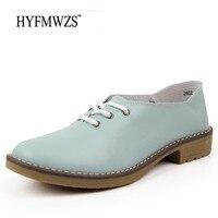 Plus Size 35 42 Fashion Designers Genuine Leather Shoes Breathable Flat Shoes Women Oxford Shoes Woman