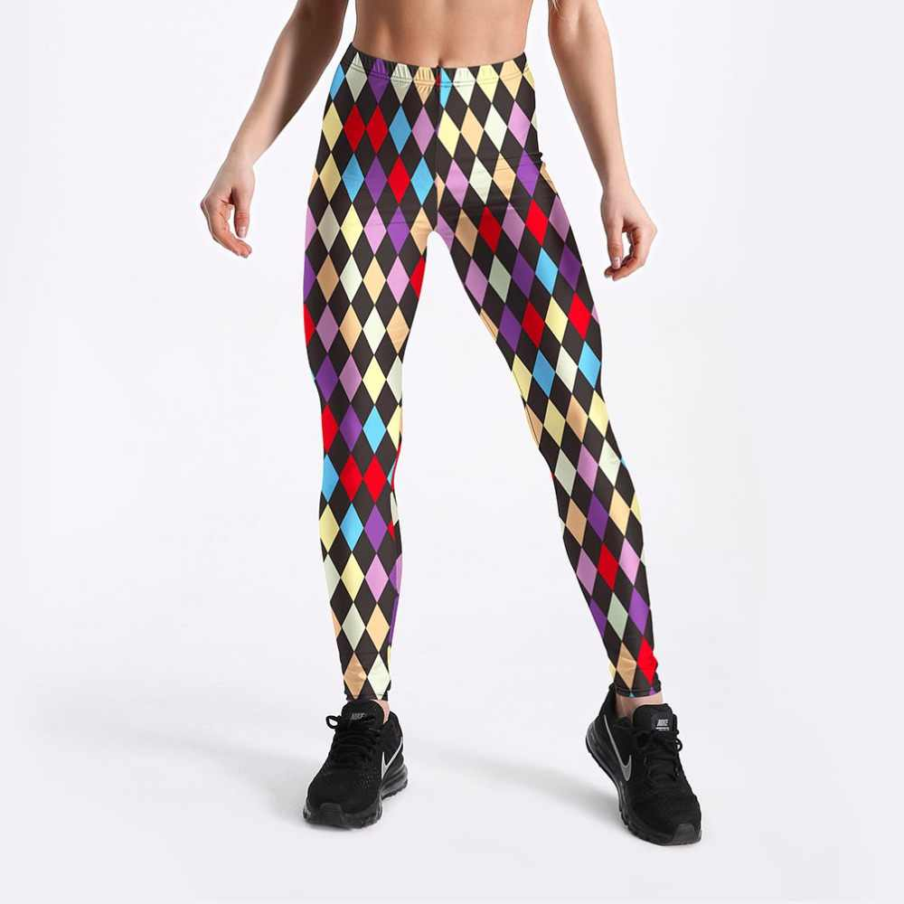 20b57216e937 Detail Feedback Questions about Adult Mardi Gras Jester Costume Checked  Print Pants Spandex Colorful Plaid leggings for women carnival party  halloween ...