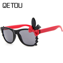 QETOU 2018 Fashion Boys Girls Heart Mirror Children Sunglass