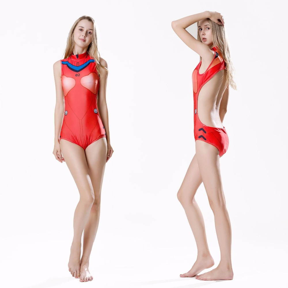 8a489b756c20a3 School Japanese COS EVA Suit Women Sexy Swimsuit One Pieces bodysuit With  Pad Slimming Comic Cos