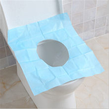 Waterproof Potty Bathroom disposable Toilet Seat Cover Disposable Toilet Mat paper pad Travel free shipping(China)