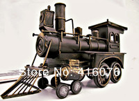 Vintage Style Locomotive Model Metal Train Model Iron Steam Train Toy Handcraft Treasure Memory Of Old