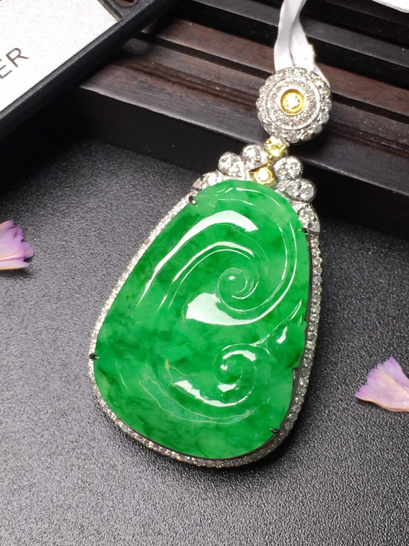 Ювелирные изделия из чистого золота 18 К, ювелирные изделия из Будды, натуральный бурмес, нефритовые драгоценные камни, Jadite, кулон, ожерелье,