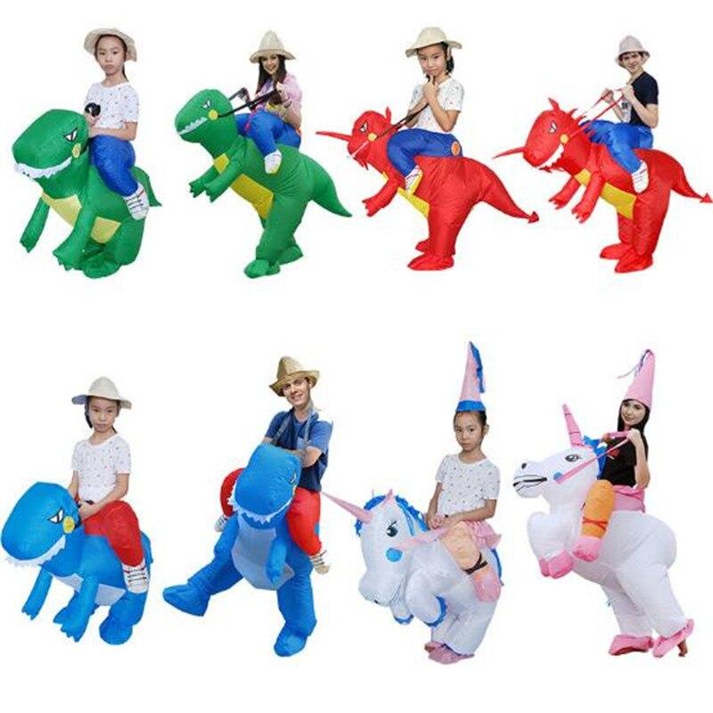 Halloween Bar Party Costumes licorne dinosaure Cosplay stéréoscopique adulte enfants vêtements gonflables drôle mascotte 40 styles