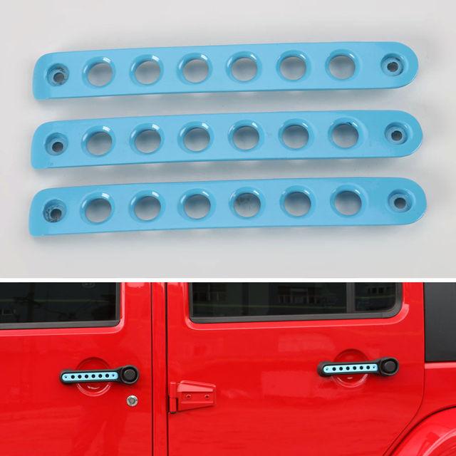 BBQ@FUKA 3pcs automobiles accessories Zinic Alloy Door Handle Tailgate Trim Insert Cover For Jeep & BBQ@FUKA 3pcs automobiles accessories Zinic Alloy Door Handle ...