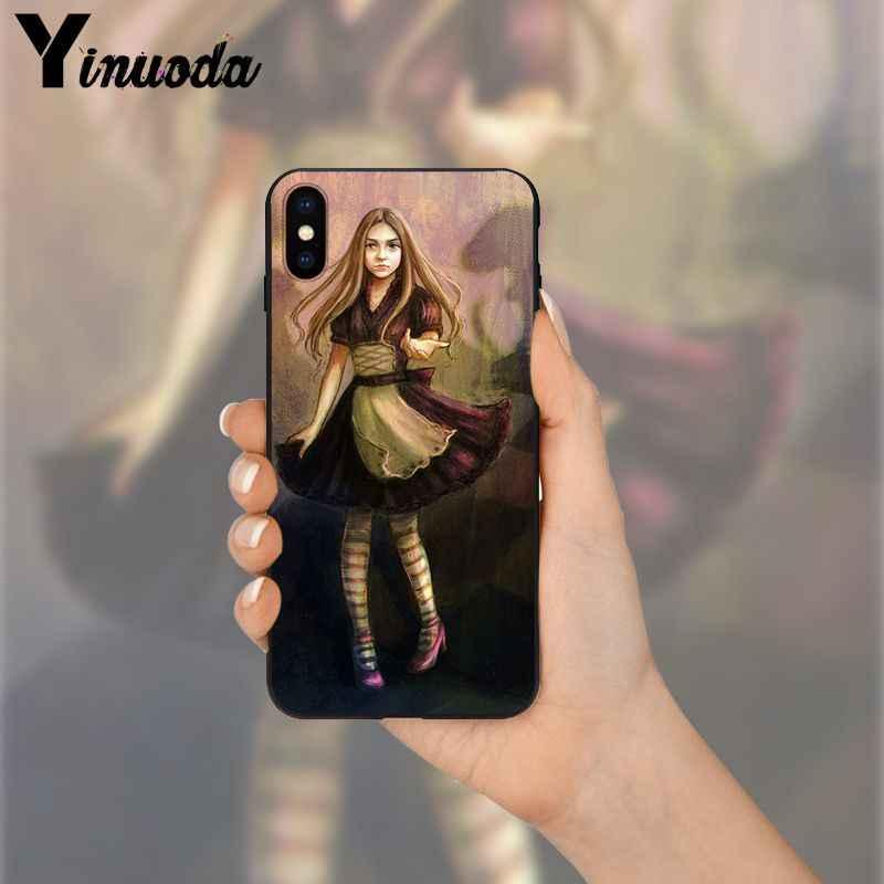 Yinuoda أليس في بلاد العجائب شيشاير العملاء عالية الجودة جراب هاتف ل أبل فون 8 7 6 6S زائد X XS ماكس 5 5S SE XR غطاء