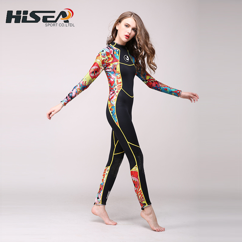 High quality 2.5 mm women neoprene wetsuit color stitching Surf Diving Equipment Jellyfish clothing long sleeved piece fitted приспособление для чистки поршневых канавок jtc 1349