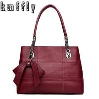 Women Bags Big Chains Bow Sheepskin Leather Bags Handbags Women Famous Brands Luxury Designer Genuine Leather