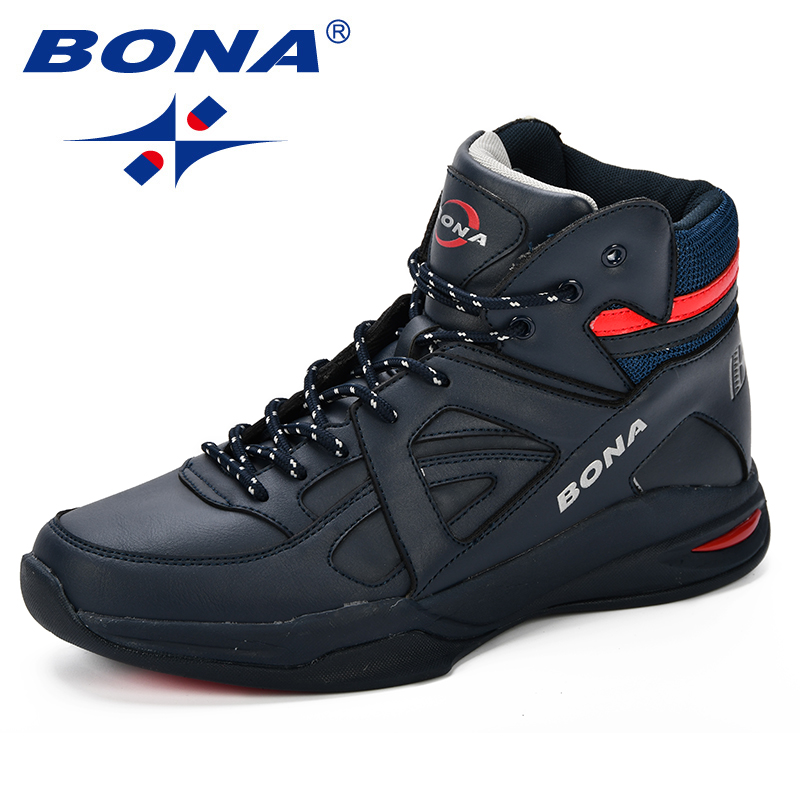 BONA Baskets Homme 2018 hommes basket-ball chaussures vache Split hommes chaussures plein air plat haut chaussures de Sport hommes formateurs Zapatillas Comfy - 3
