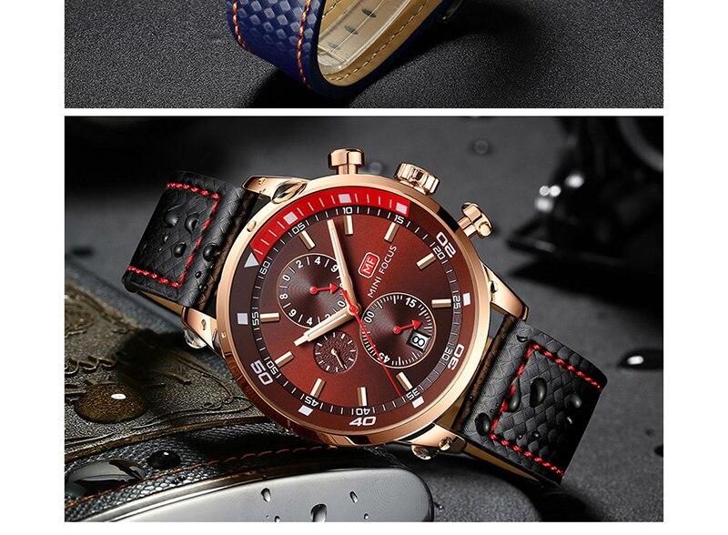 Watches Men 2019 Luxury Brand MINI FOCUS Quartz Fashion Leather Watch Man Chronograph Male Wristwatch Men relogio masculino 2018 (13)